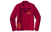 Jack Wolfskin Kids Nature Half Zip indian red